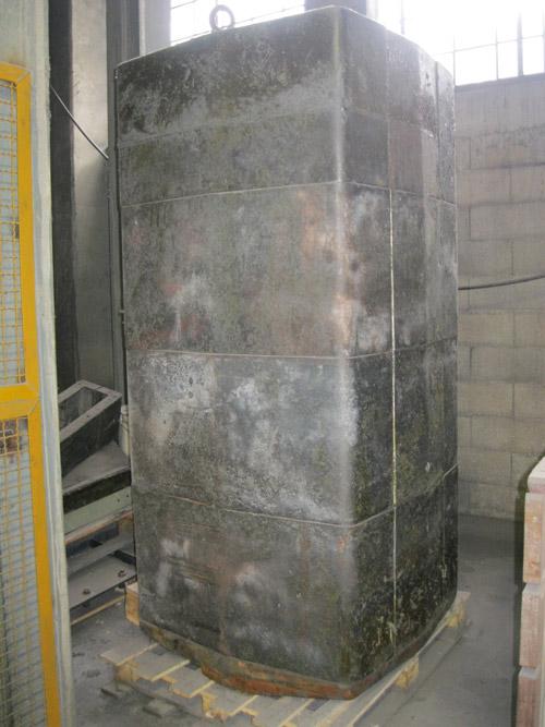 Sagoma in acciaio per esecuzione isolamento refrattario